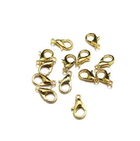 25 Toggle Clasps Golden Finish 7x12mm