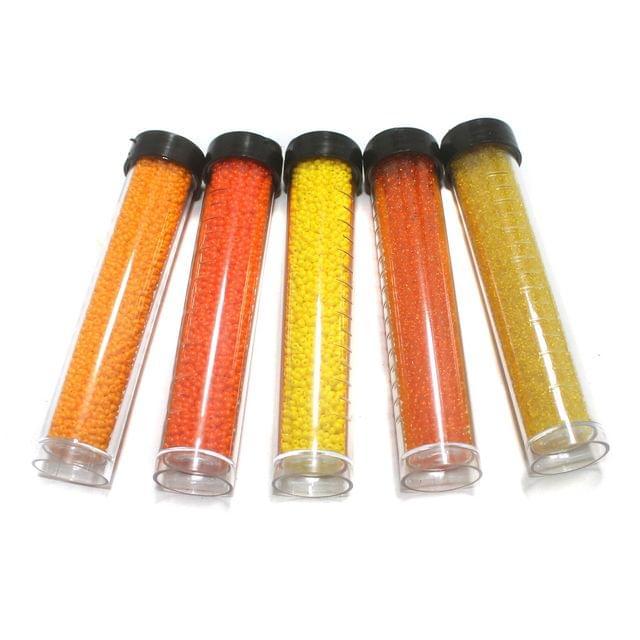 5 Colors Preciosa Seed Beads Combo Yellow 11`0