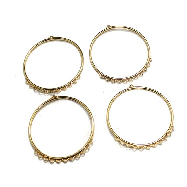 5 Pairs Earring Components Golden 1.75 Inch