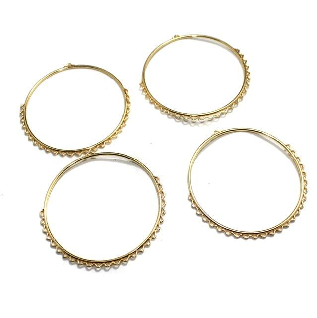 5 Pairs Earring Components Golden 2.5 Inch