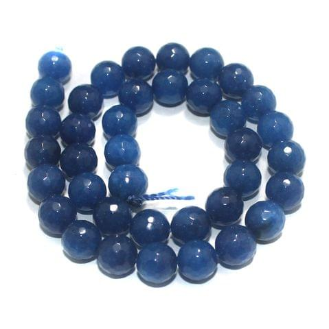 10mm Blue Faceted Gemstone Beads 1 String