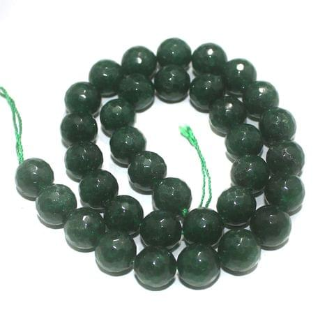 10mm Green Faceted Gemstone Beads 1 String