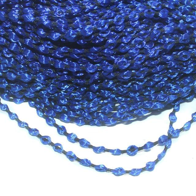 Blue Satin Thread 4mm, For Jewellery Making, Craft