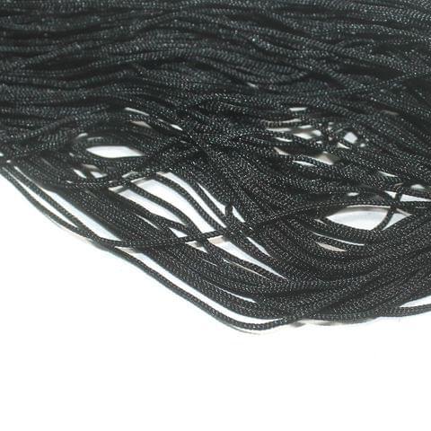Black Plain Satin Thread 1mm, For Jewellery Making, Craft