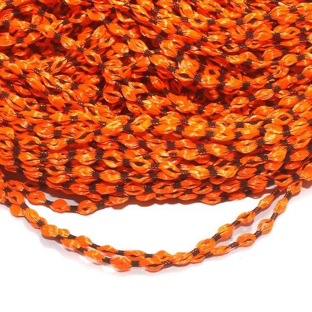 Orange Satin Thread 4mm, For Jewellery Making, Craft