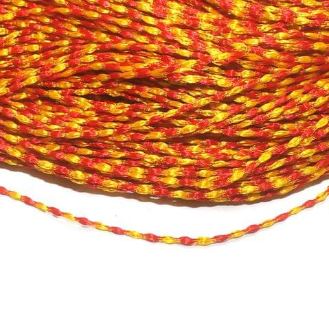 Orange Satin Thread 2mm, For Jewellery Making, Craft