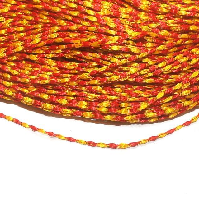 Orange Satin Thread 2mm, For Jewellery Making, Craft