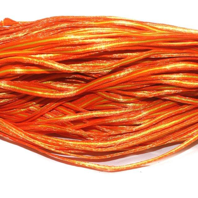 Orange Satin Thread 6mm, For Jewellery Making, Craft