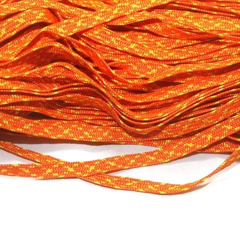 Orange Flat Satin Thread 7mm, For Jewellery Making, Craft