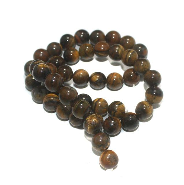 8mm Golden Tiger Eye Gemstone Beads 1 String
