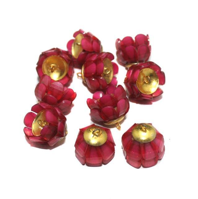 Pink Takkar Work Earring Components 15x18mm, 10 Pcs