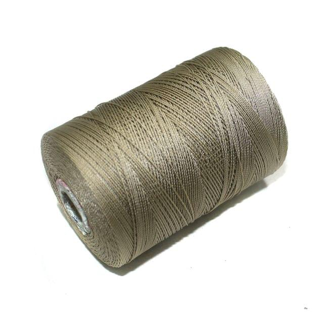5000 Mtr Satin Cotton Thread 0.40mm Light Khaki