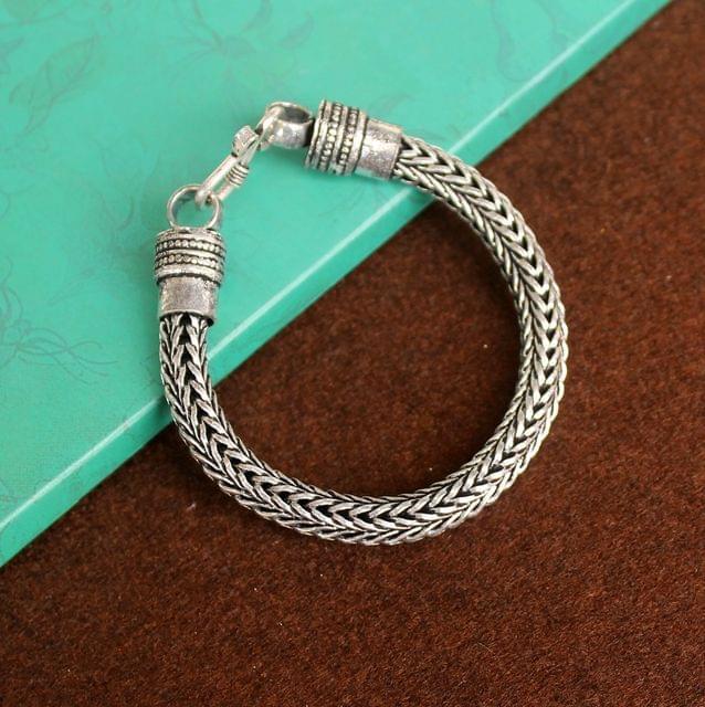 German Silver Braid Bracelet