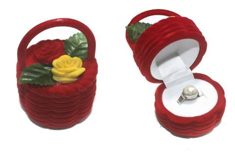 Flower Basket Finger Ring Box 1 Pcs