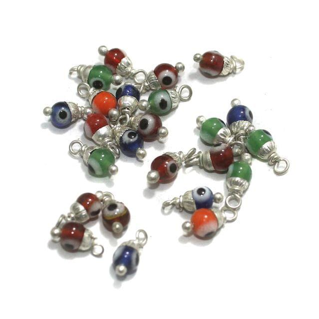 Evil Eye Loreal Glass Beads 5mm 100 Pcs