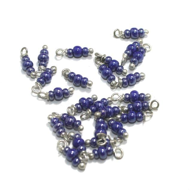 Blue Luster Loreal Glass Beads 4x2mm 100 Pcs