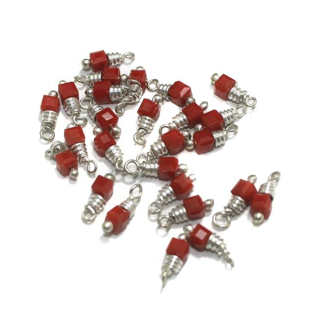 Red Faceted Loreal Glass Beads 4x4mm 100 Pcs