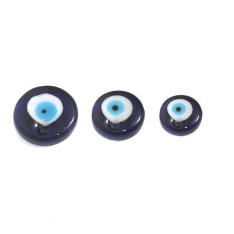 Round Shape Evil Eye Graduated Pendant Set 3 Pcs