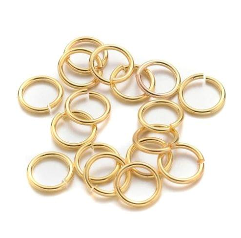 4mm Golden Jump Rings 100 Gm