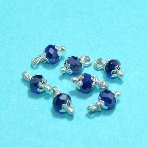 Blue Faceted Loreal Beads Rondelle Luster 8mm