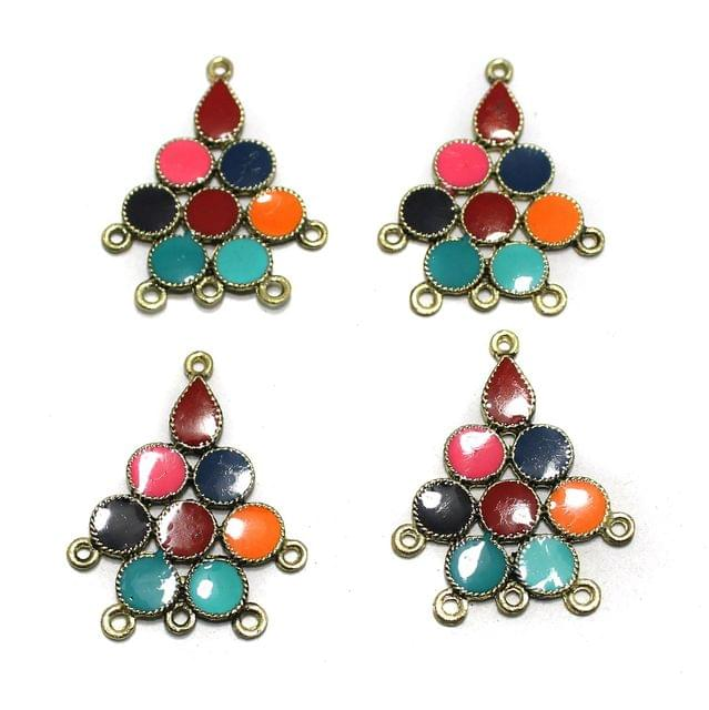 5 Pairs Multi Color Earring Components 37mm