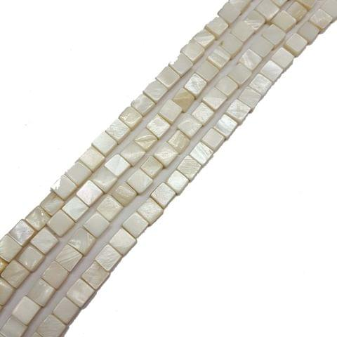 6mm, 2 strands, Mother Of Pearls Shell, 16 inches, 65+ Beads In Each Strand