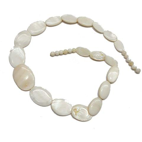 Graduation, 2 strands, Mother Of Pearls Shell, 16 inches, 18+ Beads In Each Strand