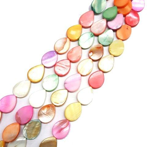 13x16mm, 2 strands, Mother Of Pearls Shell, 14 inches, 21+ Beads In Each Strand