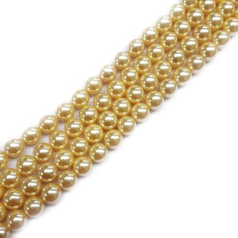 10mm, 2 strands, AAA Quality Shell Pearls, 16 inches, 38+ Beads In Each Strand