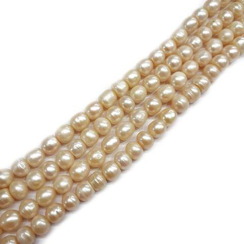 7x9mm, 2 strands, Baroque Pearls, 16 inches, 45+ Beads In Each Strand