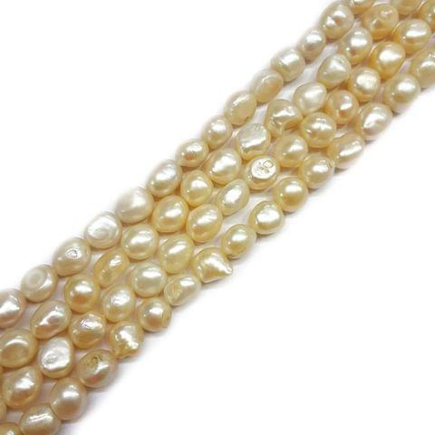 9x11mm, 2 strands, Baroque Pearls, 15 inches, 32+ Beads In Each Strand