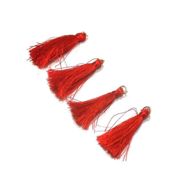 50 Pcs Red Silk Tassles 1 Inch