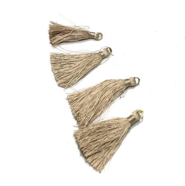 50 Pcs Coffee Silk Tassles 1 Inch