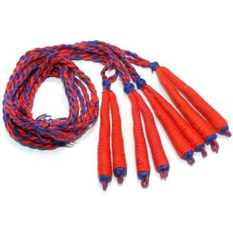 4 Pcs Orange Braided Thread Dori