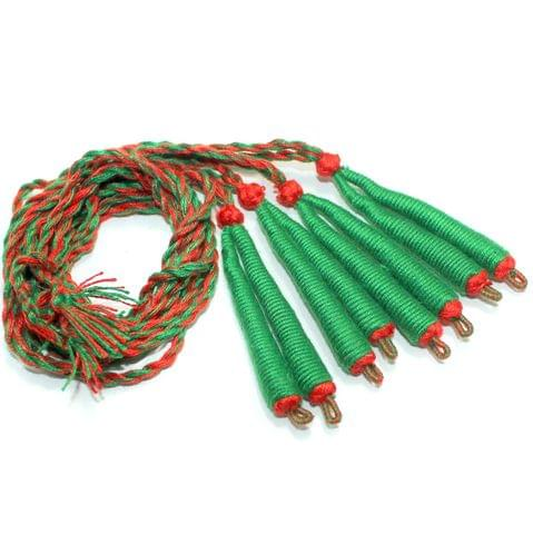 4 Pcs Green Braided Thread Dori
