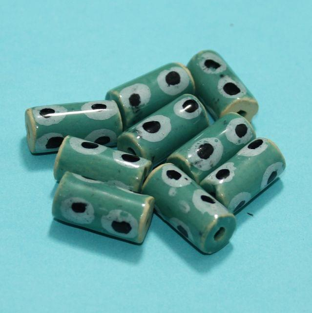 35 Pcs Ceramic Beads Assorted 20x10 mm