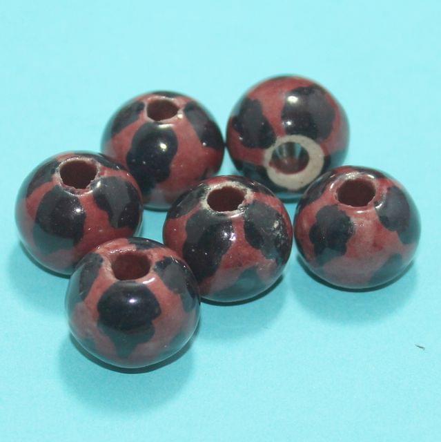 13 Pcs Ceramic Beads Assorted 12x21 mm