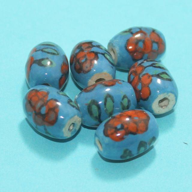 61 Pcs Ceramic Beads Assorted 18x18 mm