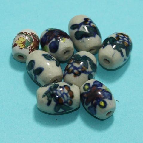 20 Pcs Ceramic Beads Assorted 20x15 mm