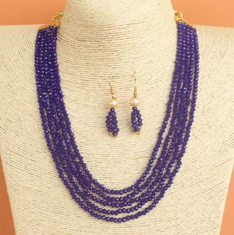 Crystal Beaded Multilayer Necklace Set