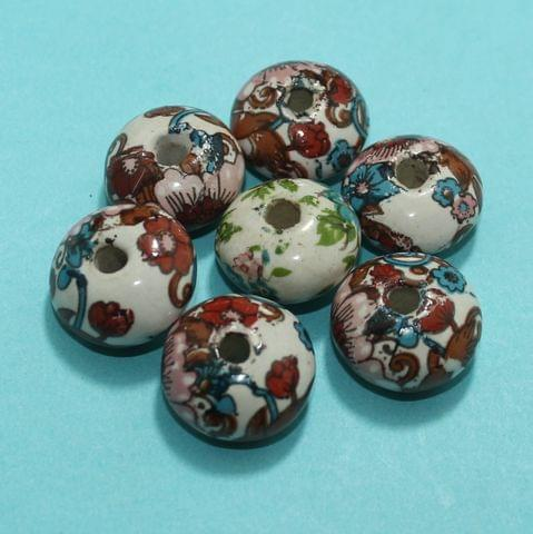 70 Pcs Ceramic Beads Assorted 11x17 mm