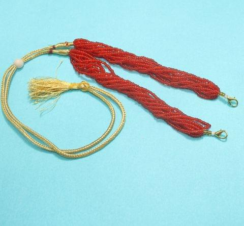 Seed Beads Pendant Dori Red, Pack Of 1 Pc