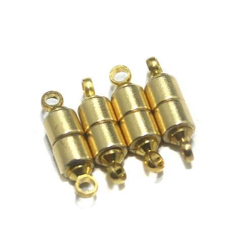 5 Pcs Golden Magnetic Clasps, Size 14x4mm