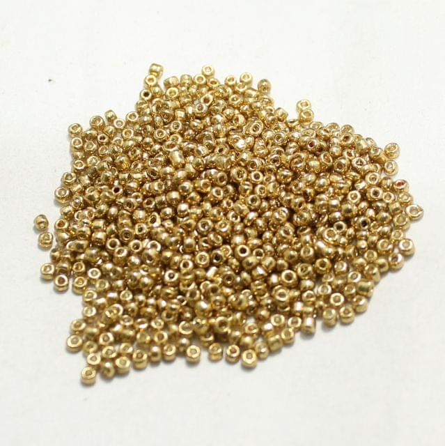 100 Gm Seed Beads Golden opaque 11/0 size