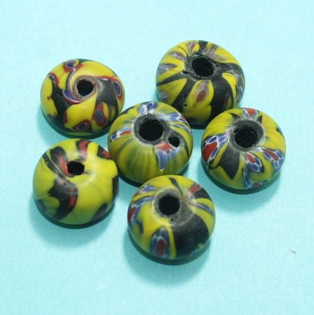 50 Assorted Antique Mosaic Glass Beads 19-12