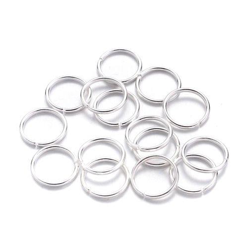 12mm Silver Metal Jump Rings 100 Gm
