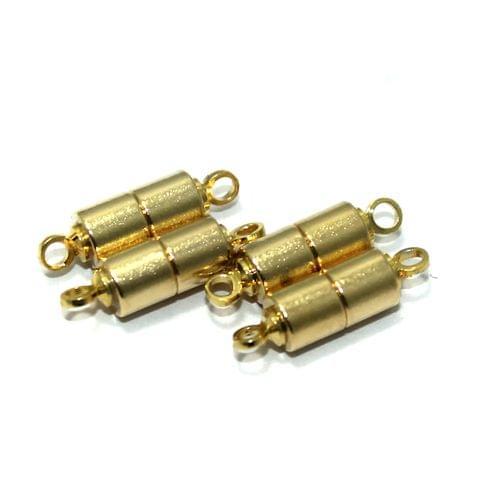 5 Pcs Golden Magnetic Clasps, Size 18x4mm