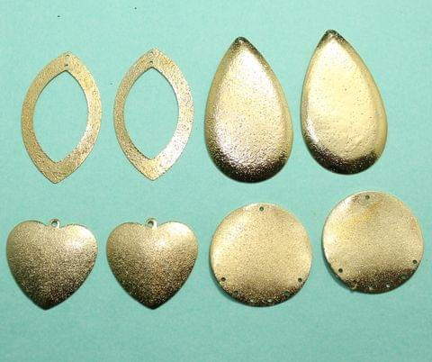 4 Pairs Gold Plated Earrings Components