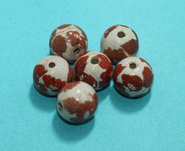 20 Pcs Ceramic Round Beads 20mm