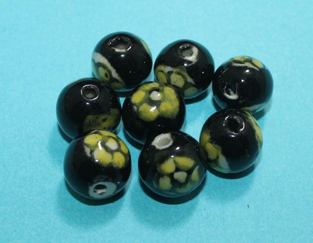 50 Pcs Ceramic Round Beads 17mm